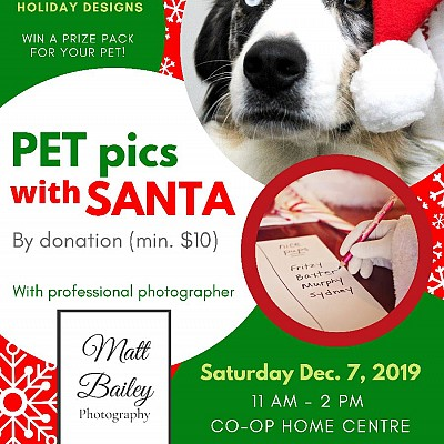 December 7th- Pet Pics with Santa!