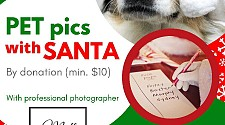 Pet Photos with Santa! Saturday December 7th 2019